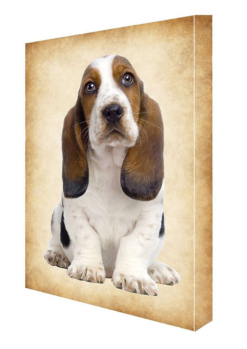 Basset Hound Puppy Dog Canvas