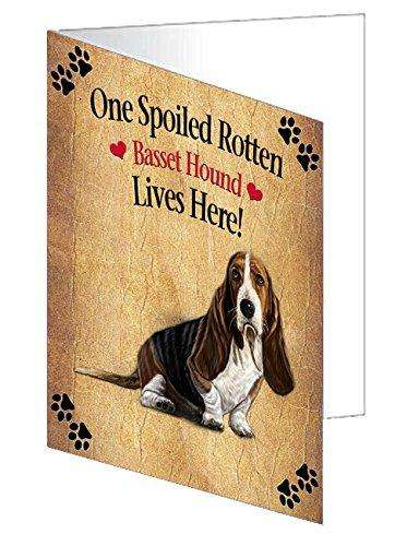 Basset Hound Spoiled Rotten Dog Greeting Card