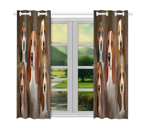 Home of  Basset Hound Dogs Playing Poker Shower Curtain