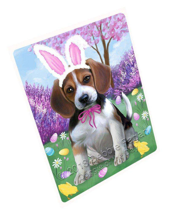 Beagle Dog Easter Holiday Large Refrigerator / Dishwasher Magnet RMAG54006