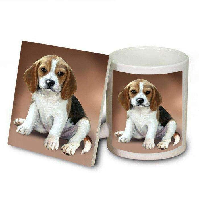 Beagle Dog Mug and Coaster Set