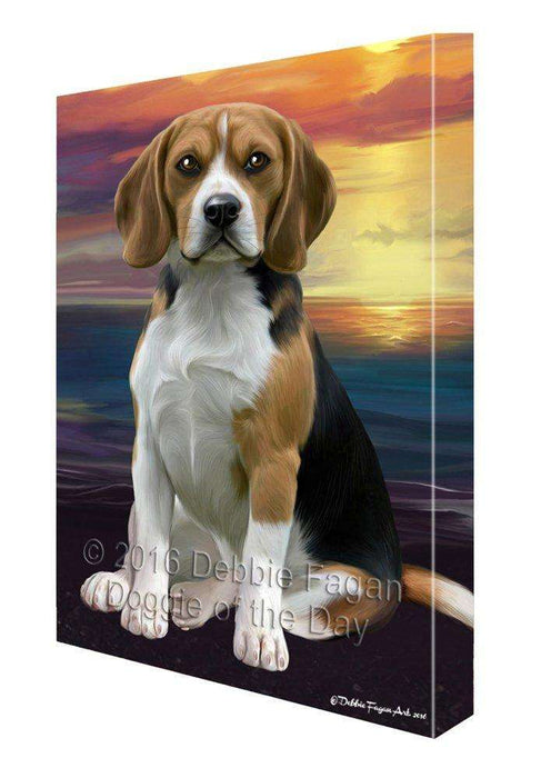 Beagle Dog Painting Printed on Canvas Wall Art
