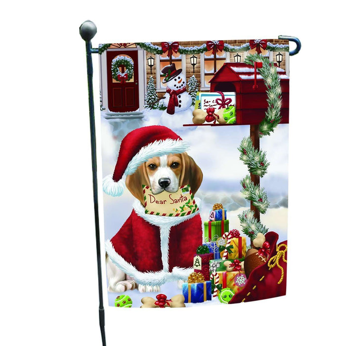 Beagles Dear Santa Letter Christmas Holiday Mailbox Dog Garden Flag