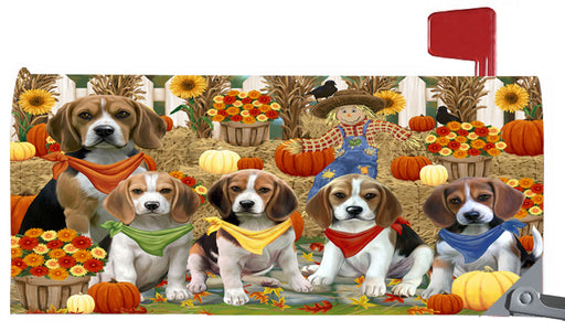 Magnetic Mailbox Cover Harvest Time Festival Day Beagles Dog MBC48013