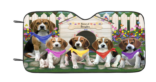 Personalized Spring Dog House Beagle Dogs Custom Garden Flags GFLG-DOTD-A62737