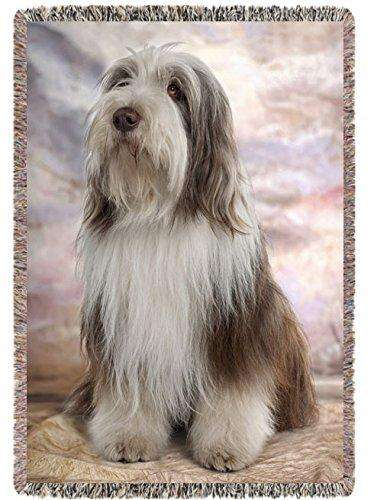 Bearded Collie Dog Woven Throw Blanket 54 x 38