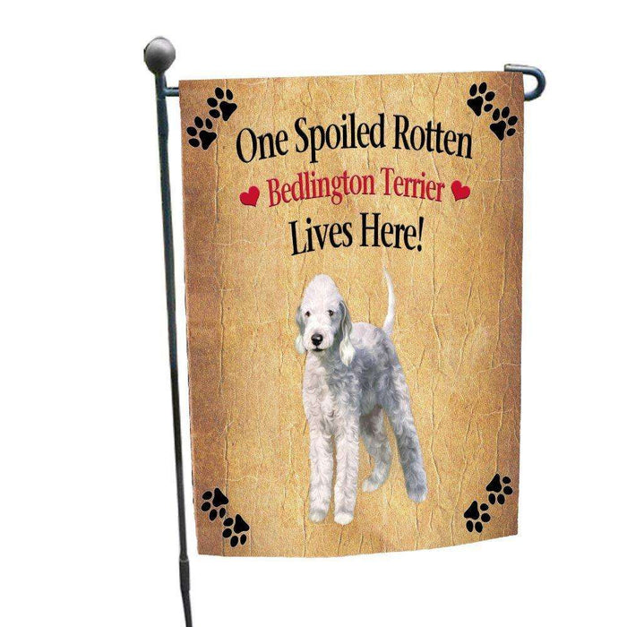 Bedlington Terrier Spoiled Rotten Dog Garden Flag