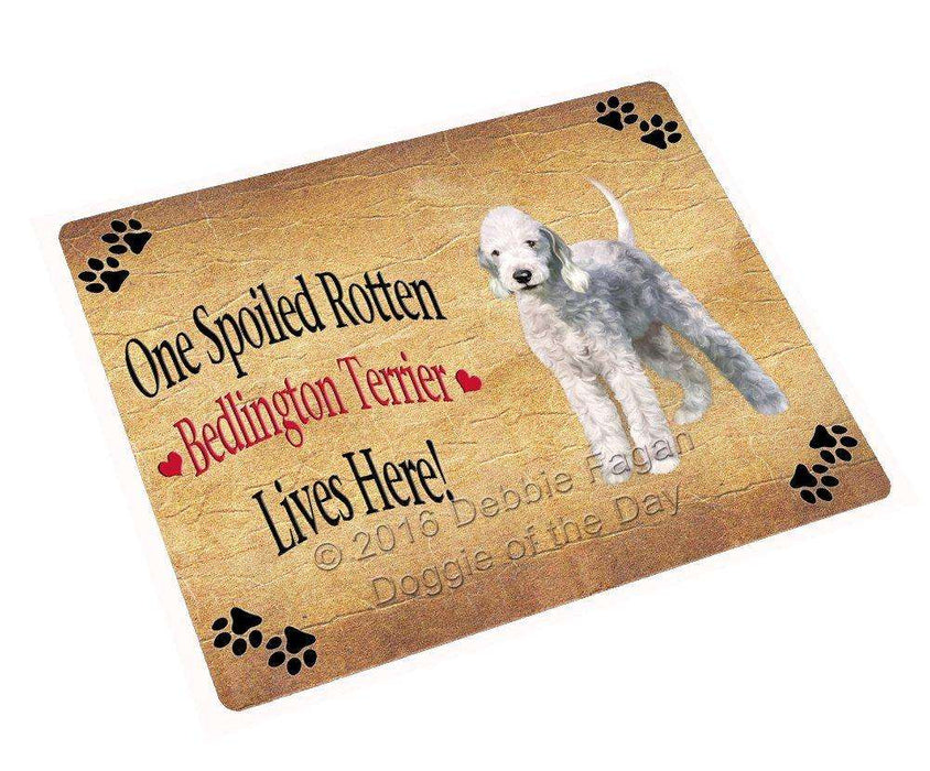 "Bedlington Terrier Spoiled Rotten Dog Magnet Small (5.5"" x 4.25"")"