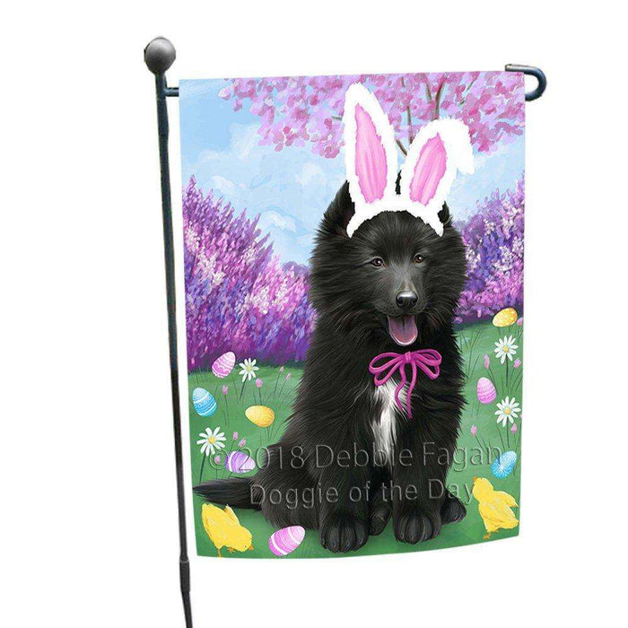 Belgian Shepherd Dog Easter Holiday Garden Flag GFLG48956