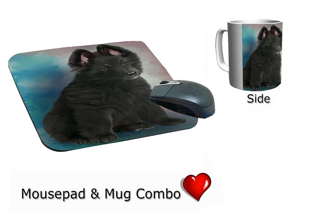 Belgian Shepherd Dog Mug & Mousepad Combo Gift Set
