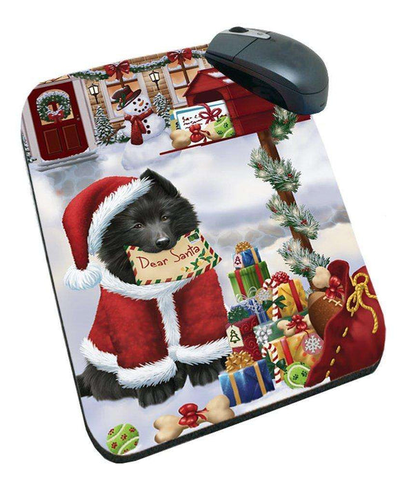 Belgian Shepherds Dear Santa Letter Christmas Holiday Mailbox Dog Mousepad