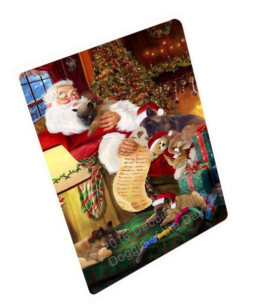 "Belgian Tervuren Dog And Puppies Sleeping With Santa Magnet Small (5.5"" x 4.25"")"