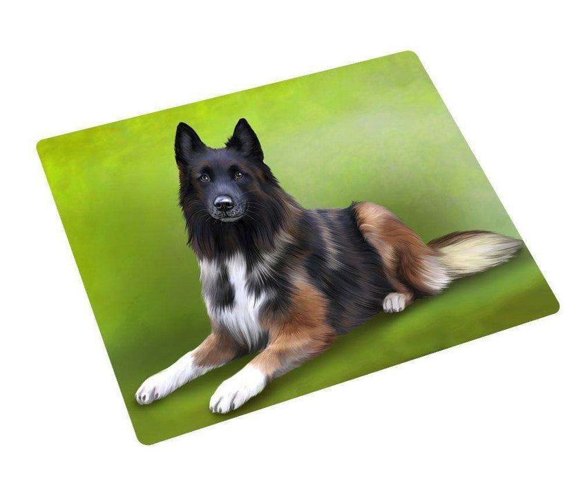 Belgian Tervuren Dog Art Portrait Print Woven Throw Sherpa Plush Fleece Blanket