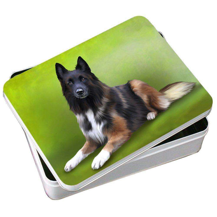 Belgian Tervuren Dog Photo Storage Tin