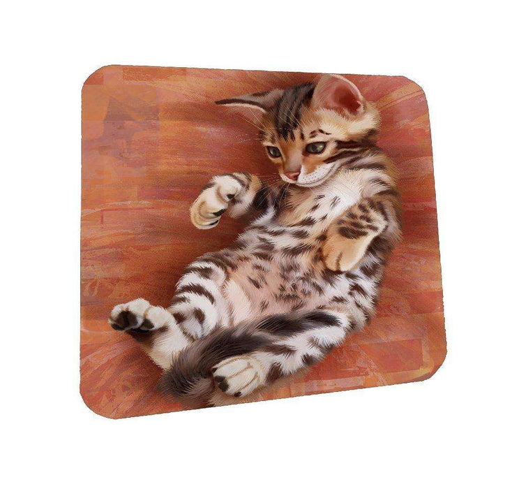Bengal Cat Coasters Set of 4