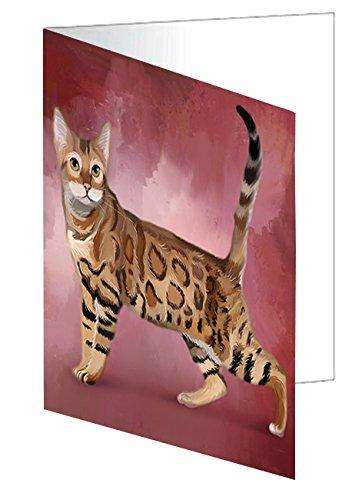Bengal Cat Note Card