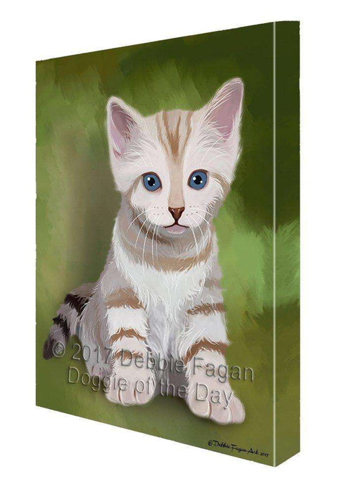 Bengal Kitten Cat Painting Printed on Canvas Wall Art
