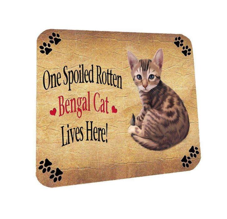 Bengal Spoiled Rotten Cat Coasters Set of 4