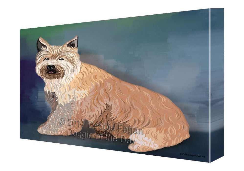 Berger Picard Dog Painting Printed on Canvas Wall Art