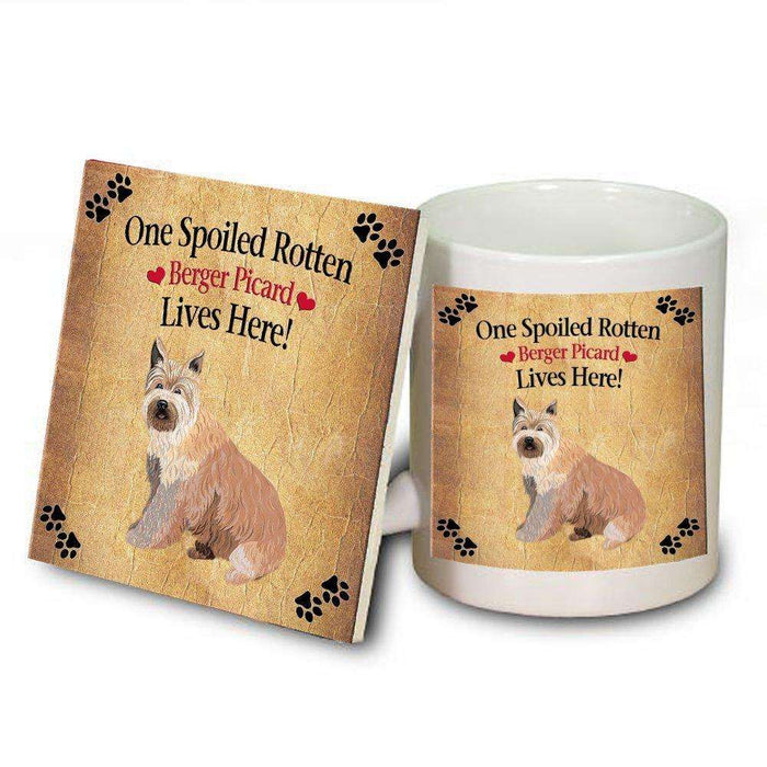 Berger Picard Spoiled Rotten Dog Mug and Coaster Set