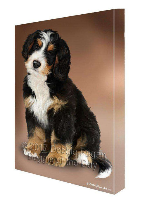 Bernedoodle Dog Canvas Wall Art D390