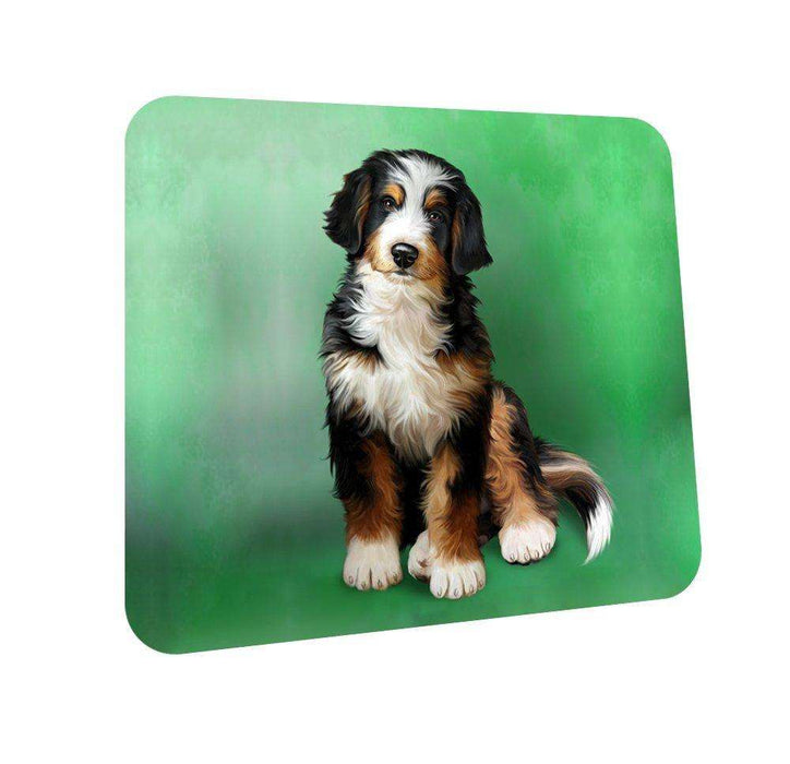 Bernedoodle Dog Coasters Set of 4