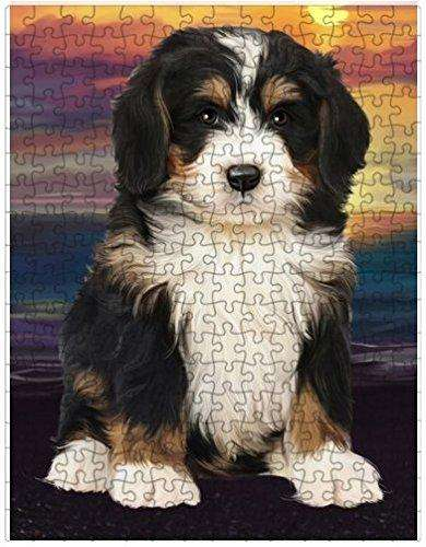 Bernedoodle Dog Puzzle with Photo Tin D460