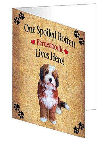 Bernedoodle Spoiled Rotten Dog Greeting Card