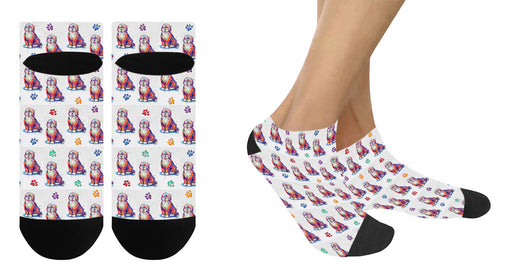 Watercolor Bernedoodle Dogs Women's Ankle Socks