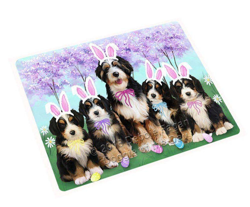Bernedoodles Dog Easter Holiday Tempered Cutting Board C51264