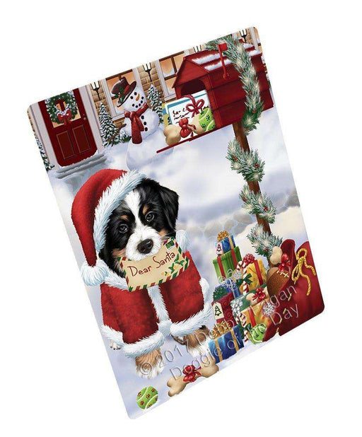 "Bernese Dear Santa Letter Christmas Holiday Mailbox Dog Magnet Mini (3.5"" x 2"")"