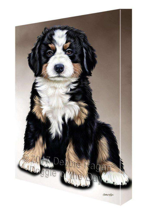 Bernese Mountain Dog Painting Printed on Canvas Wall Art Signed