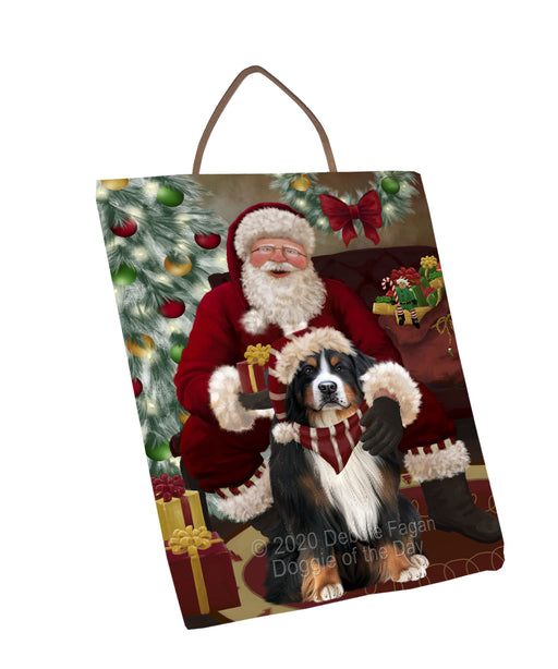 Santa's Christmas Surprise Bernese Mountain Dog Wall Décor Hanging Photo Slate SLTH58412