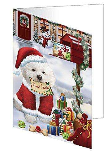 Bichon Frise Dear Santa Letter Christmas Holiday Mailbox Dog Note Card
