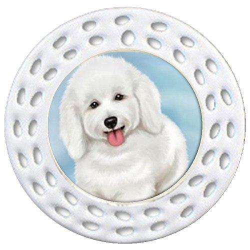 Bichon Frise Dog Art Portrait Print Christmas Holiday Ornament