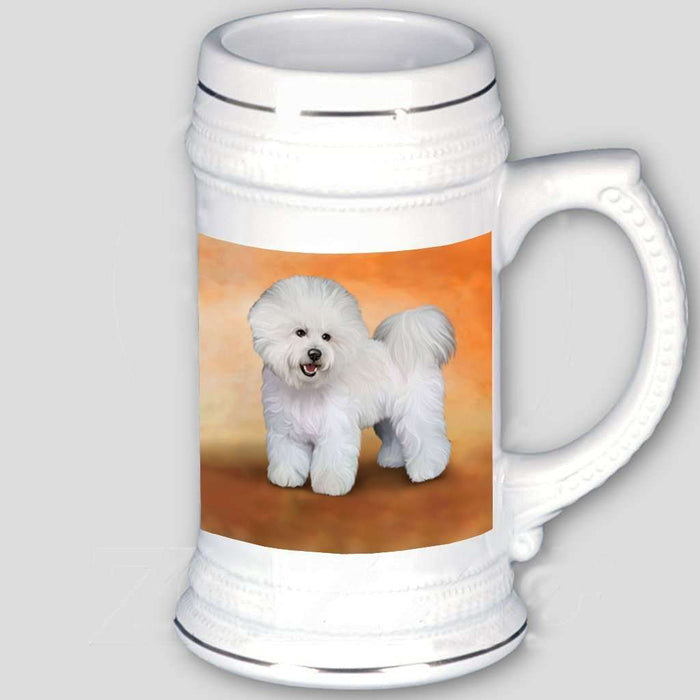 Bichon Frise Dog Beer Stein