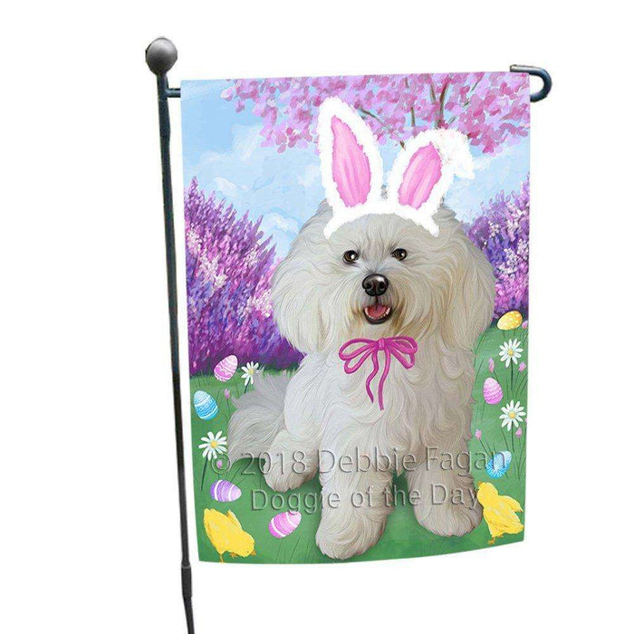 Bichon Frise Dog Easter Holiday Garden Flag GFLG48961