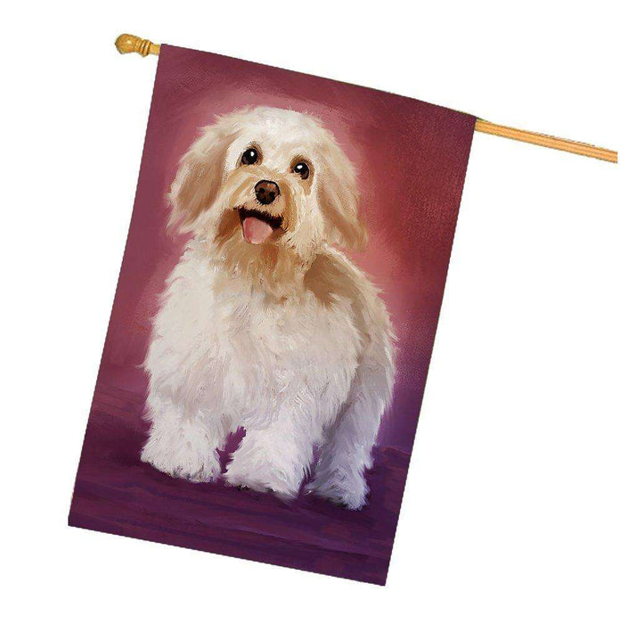 Bichon Frise Dog House Flag