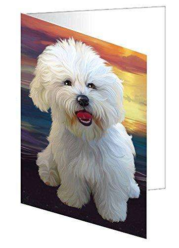 Bichon Frise Dog Note Card