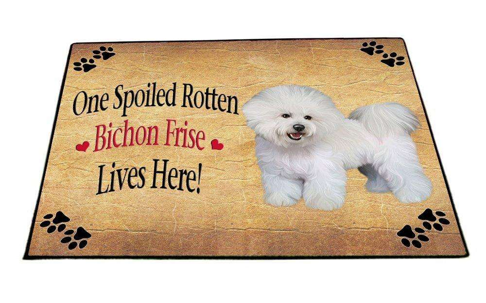 Bichon Frise Spoiled Rotten Dog Indoor/Outdoor Floormat