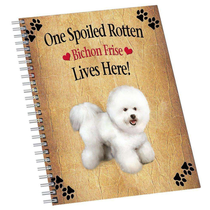 Bichon Frise Spoiled Rotten Dog Notebook