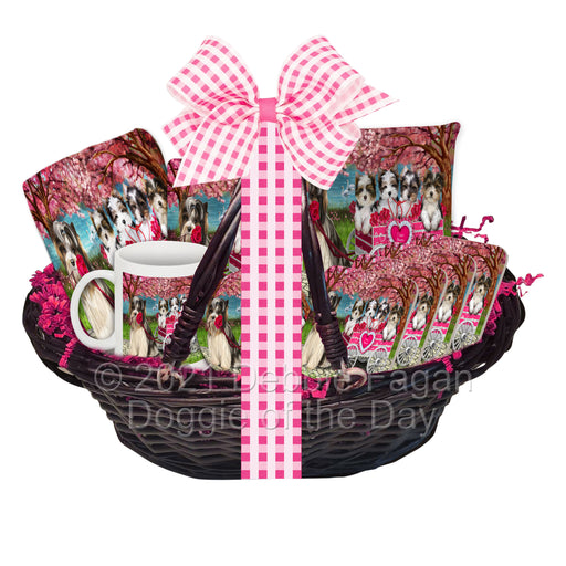 Mother's Day Gift Basket Biewer Dogs Blanket, Pillow, Coasters, Magnet, Coffee Mug and Ornament