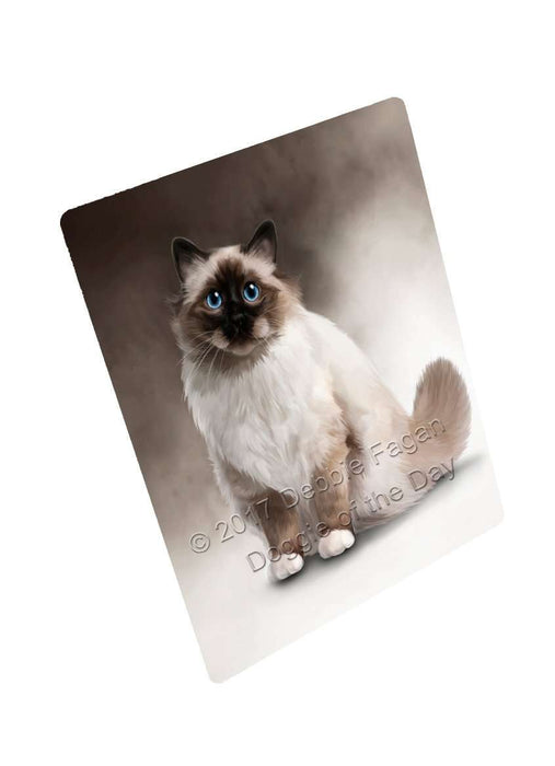 Birman Cat Art Portrait Print Woven Throw Sherpa Plush Fleece Blanket D014
