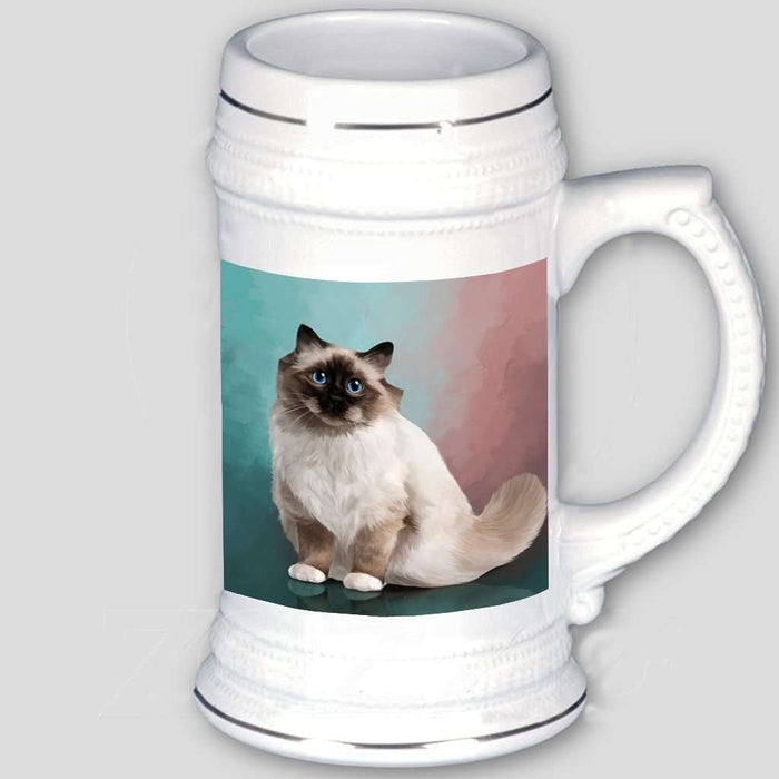 Birman Cat Beer Stein