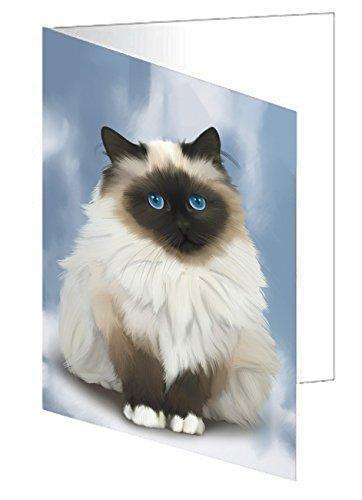 Birman Cat Greeting Card
