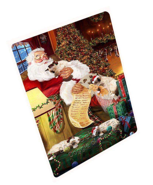 "Birman Cats And Kittens Sleeping With Santa Magnet Small (5.5"" x 4.25"")"