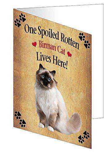 Birman Spoiled Rotten Cat Greeting Card