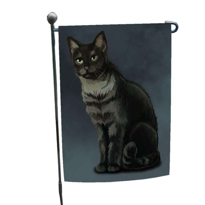 Black And Silver Tabby Cat Garden Flag