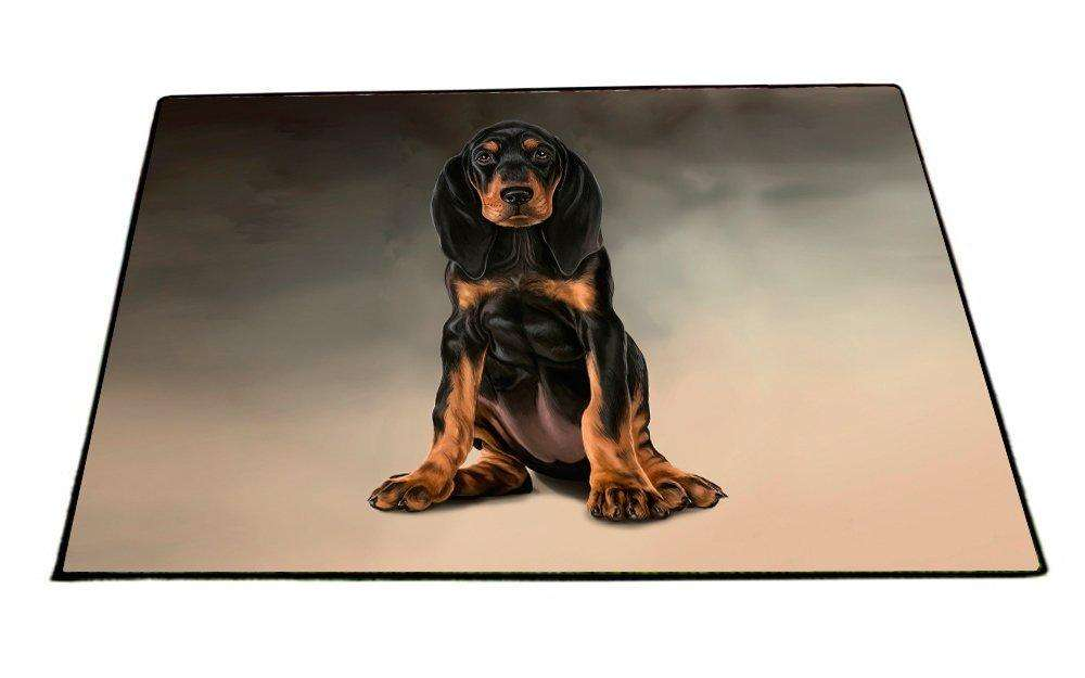 Black And Tan Coonhound Dog Indoor/Outdoor Floormat D006