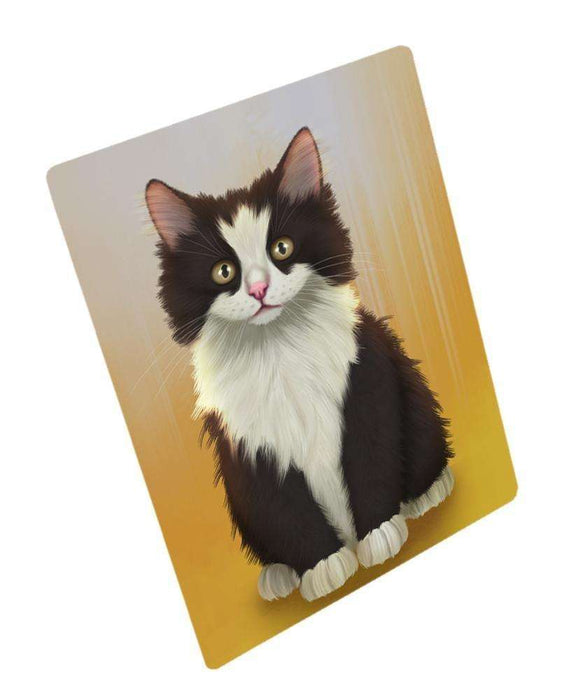 "Black And White Cat Magnet Mini (3.5"" x 2"")"